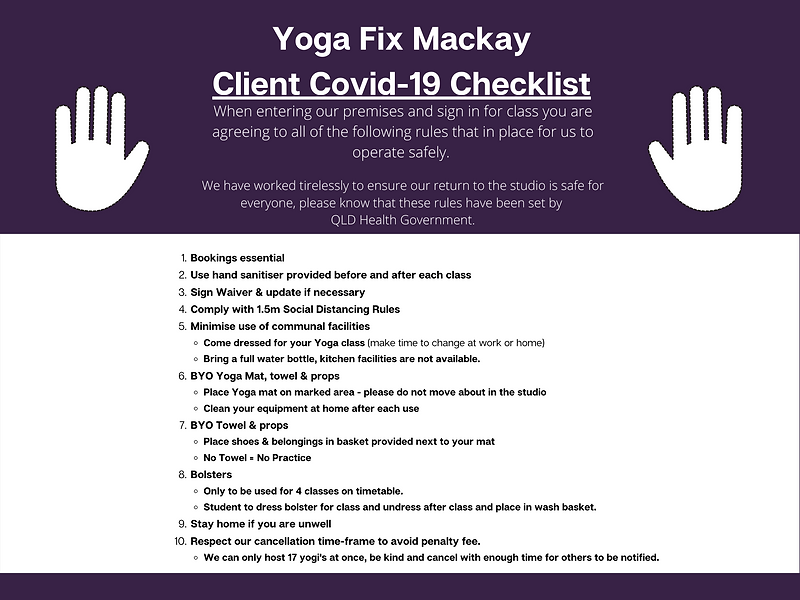 Yoga Fix Covid Safe Plan Client MUST REA