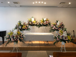 二階礼拝堂での葬儀式