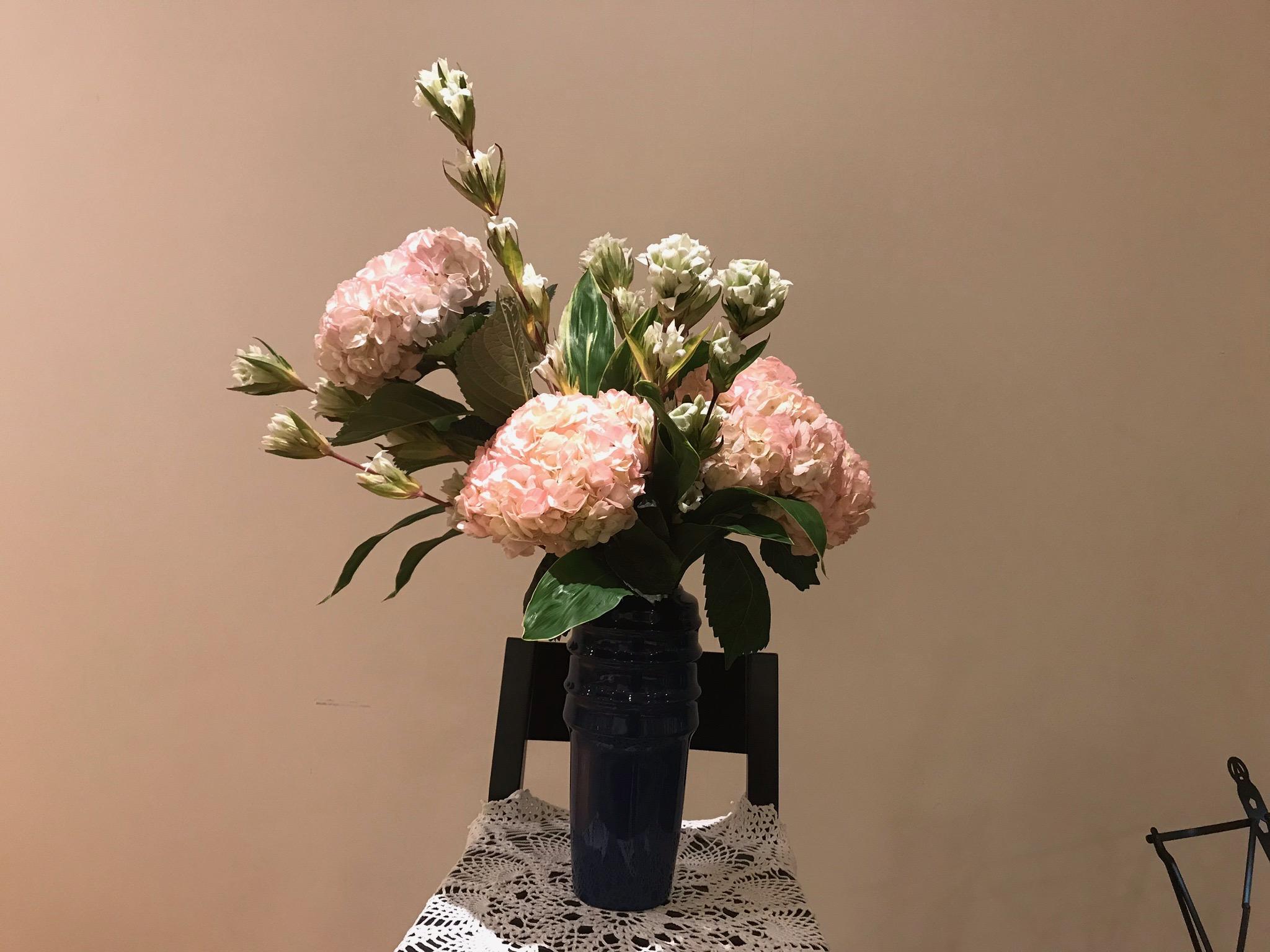 2017/10/29、聖日礼拝のお花
