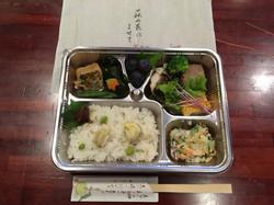 萩の花によせて武庫川弁当(2017/10/5MB牧師会)