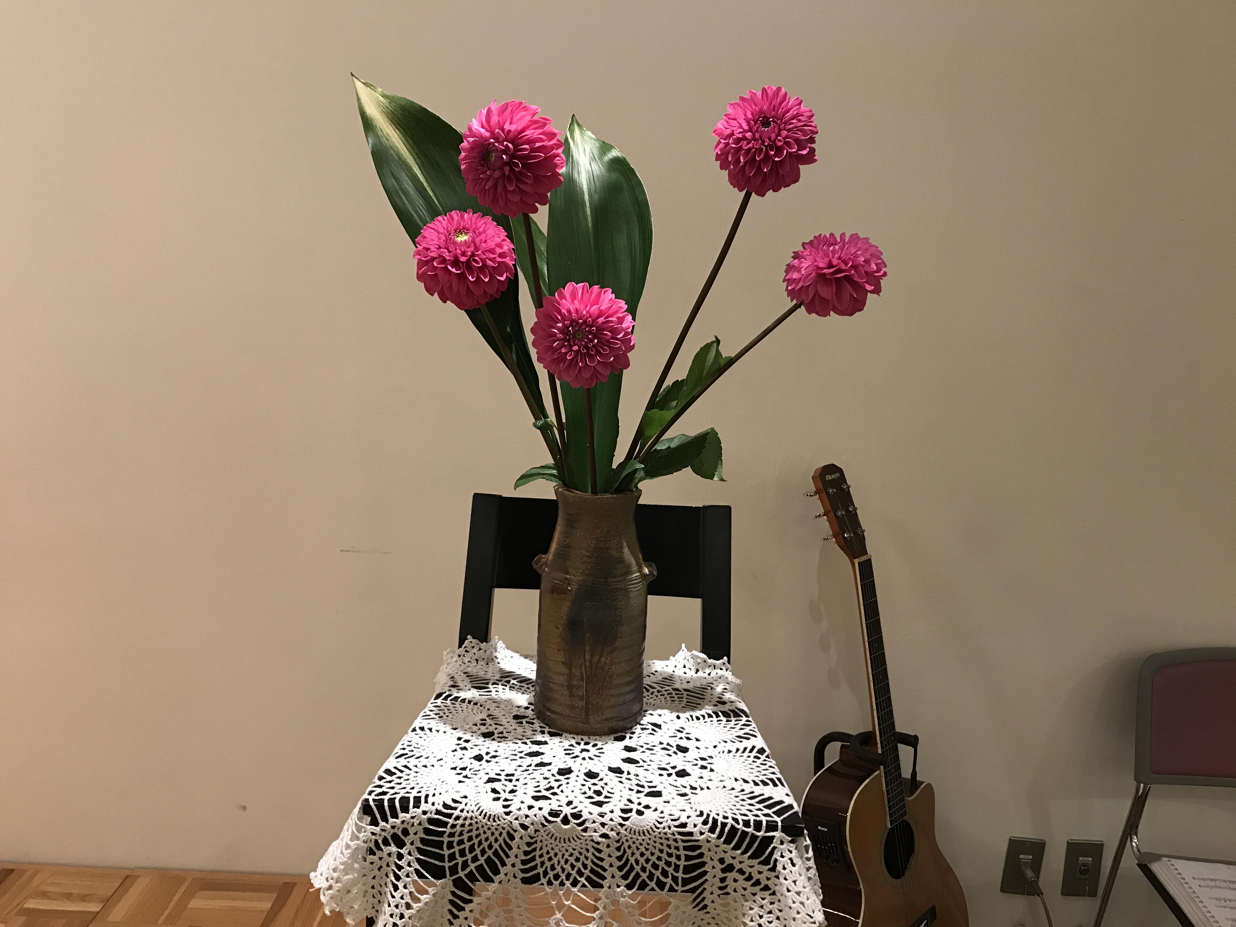 2017/10/15、聖日礼拝のお花