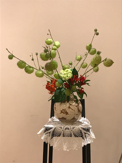 2017/11/19、聖日礼拝のお花