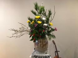 2018/1/14、聖日礼拝のお花