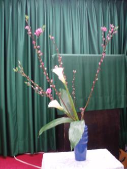 2010/2/18、聖日礼拝のお花