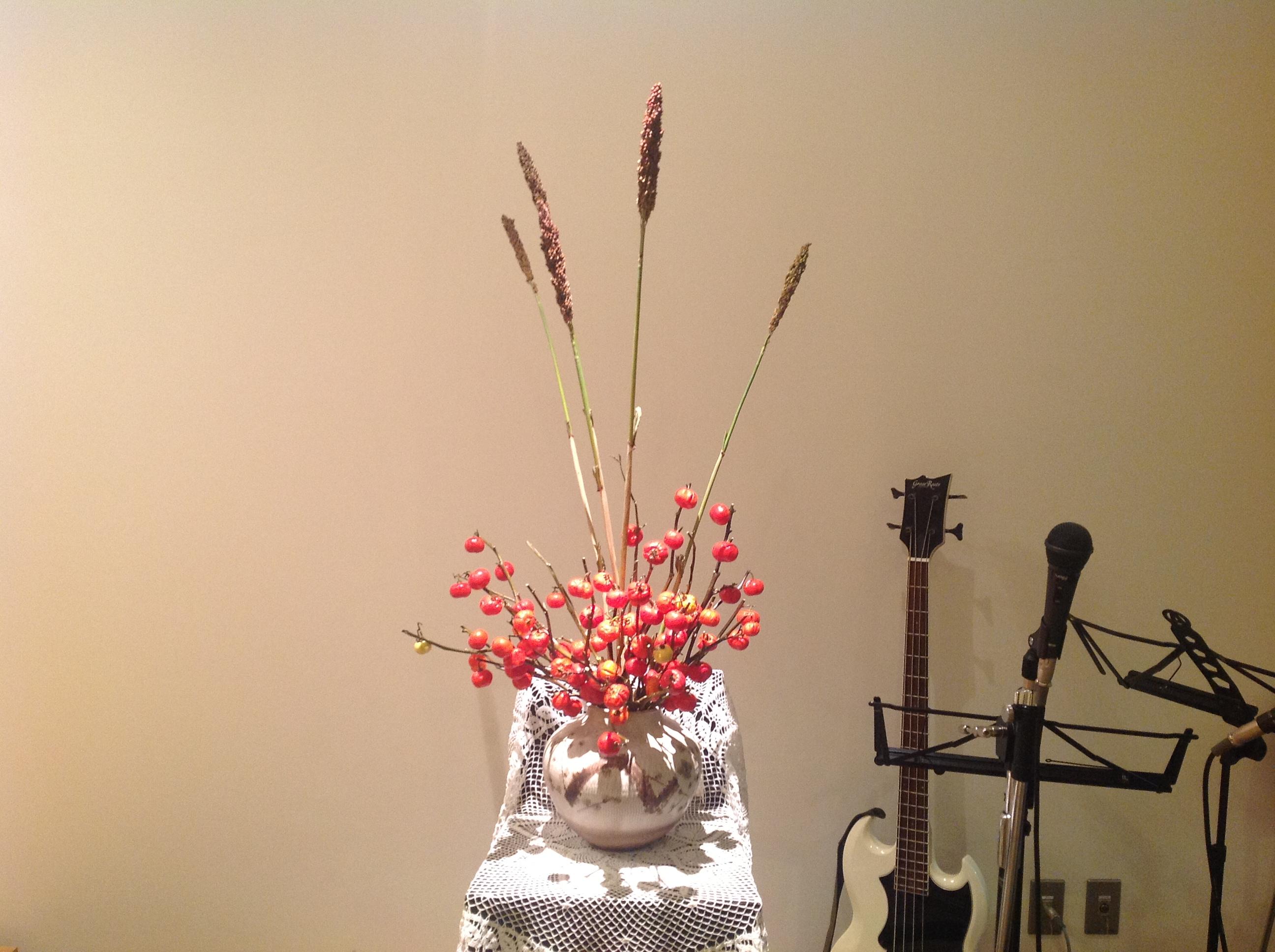 2012/9/30、聖日礼拝のお花