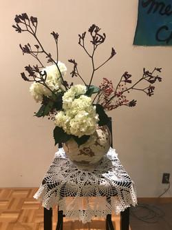 2017/12/10、聖日礼拝のお花