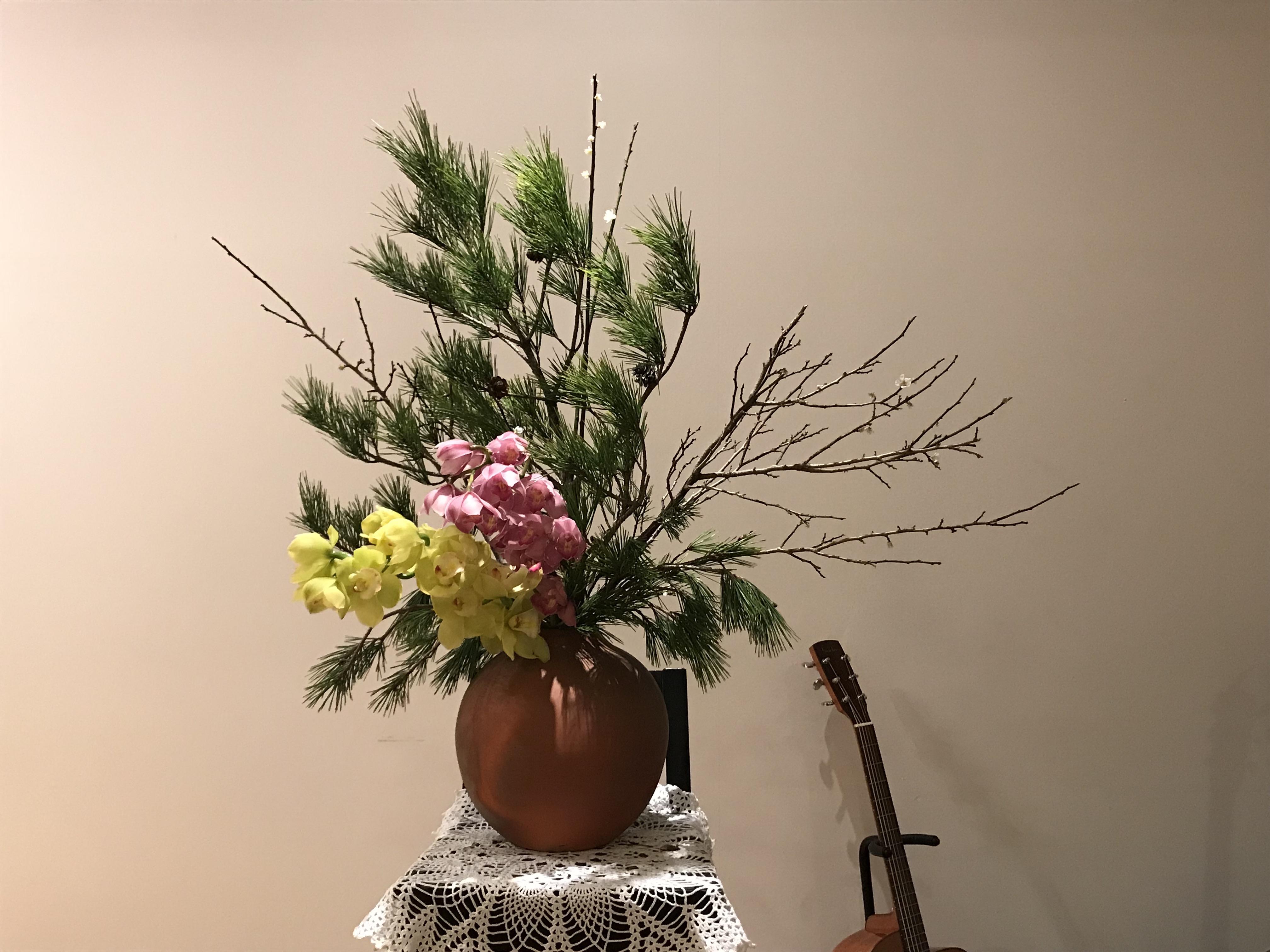2018/1/21、聖日礼拝のお花