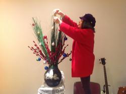 クリスマスの生け花
