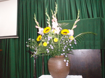 2007/11/18、聖日礼拝のお花