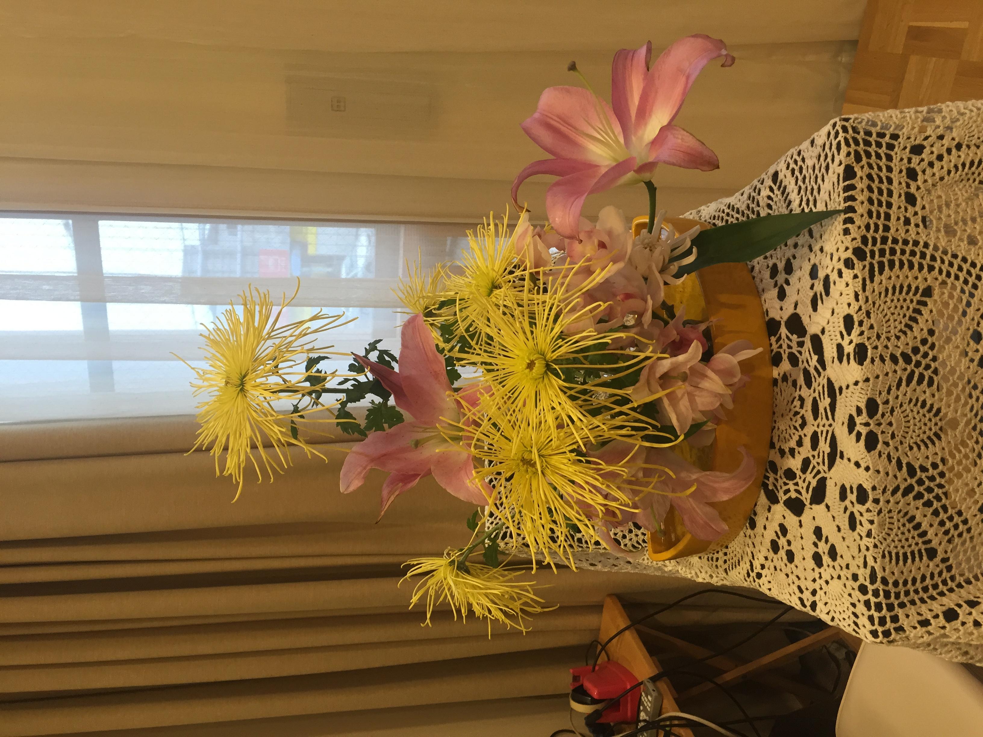 2016/1/17、聖日礼拝のお花