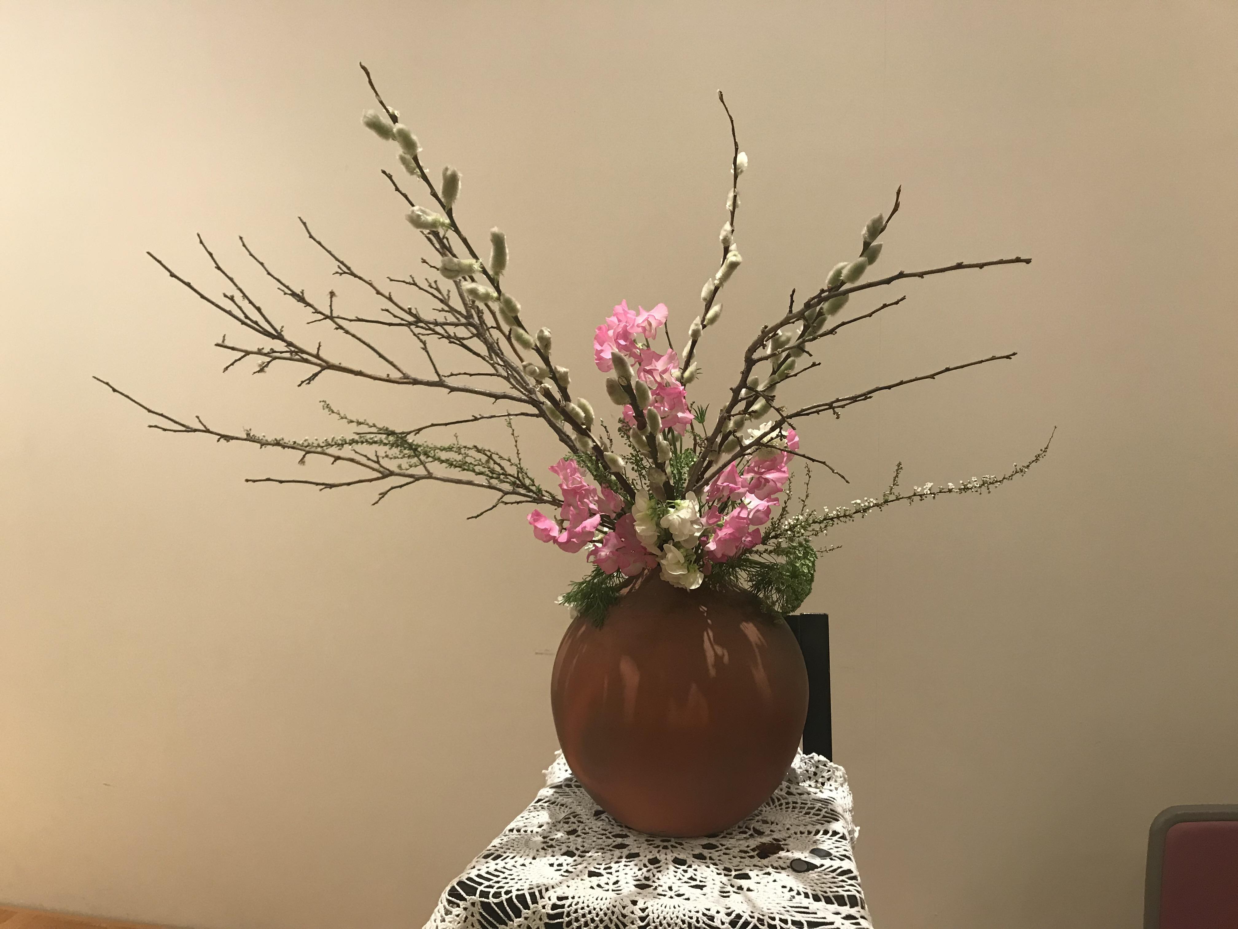 2018/2/4、聖日礼拝のお花