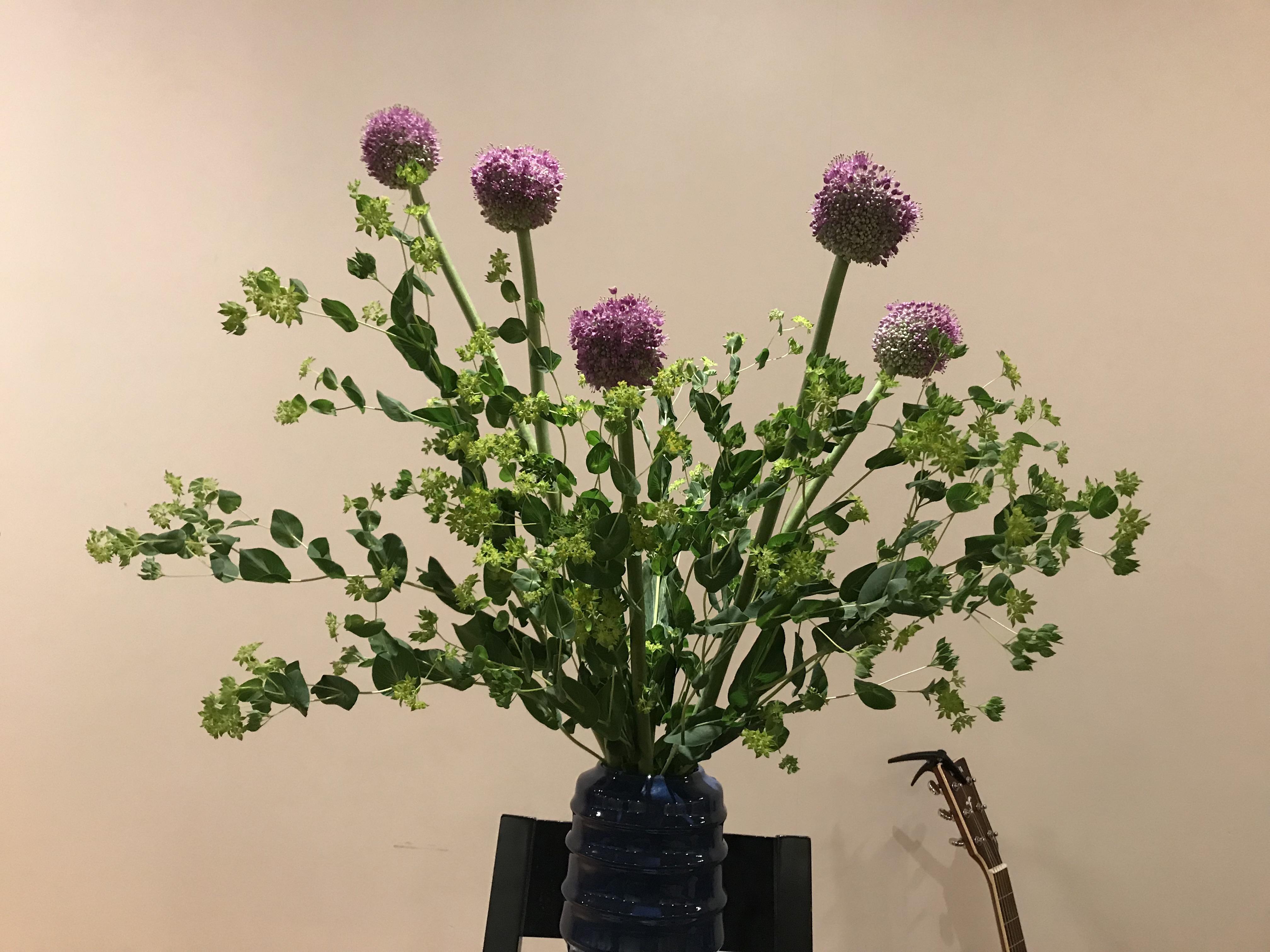 2018/5/27、聖日礼拝の花