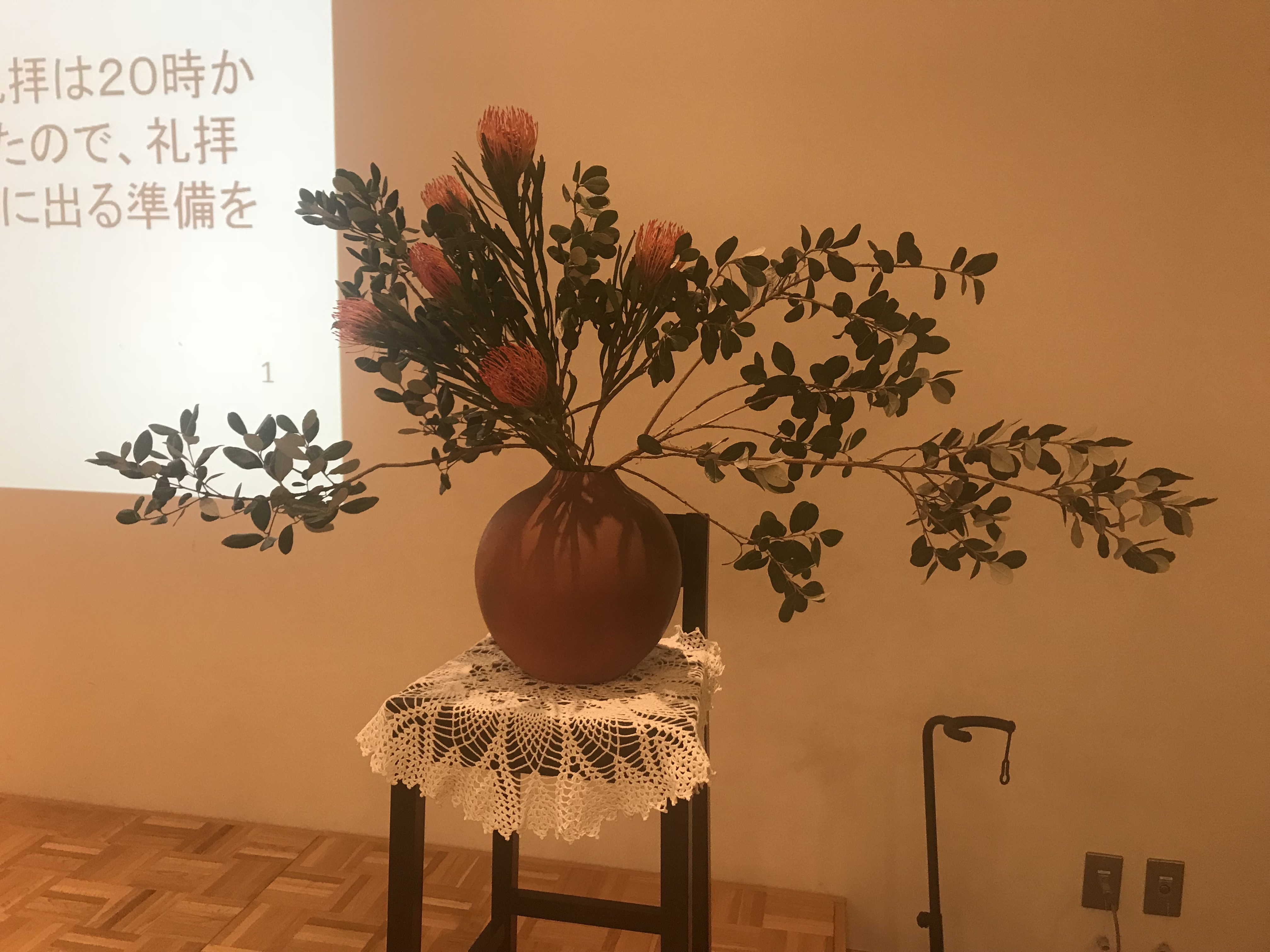 2018/7/22、講壇のお花
