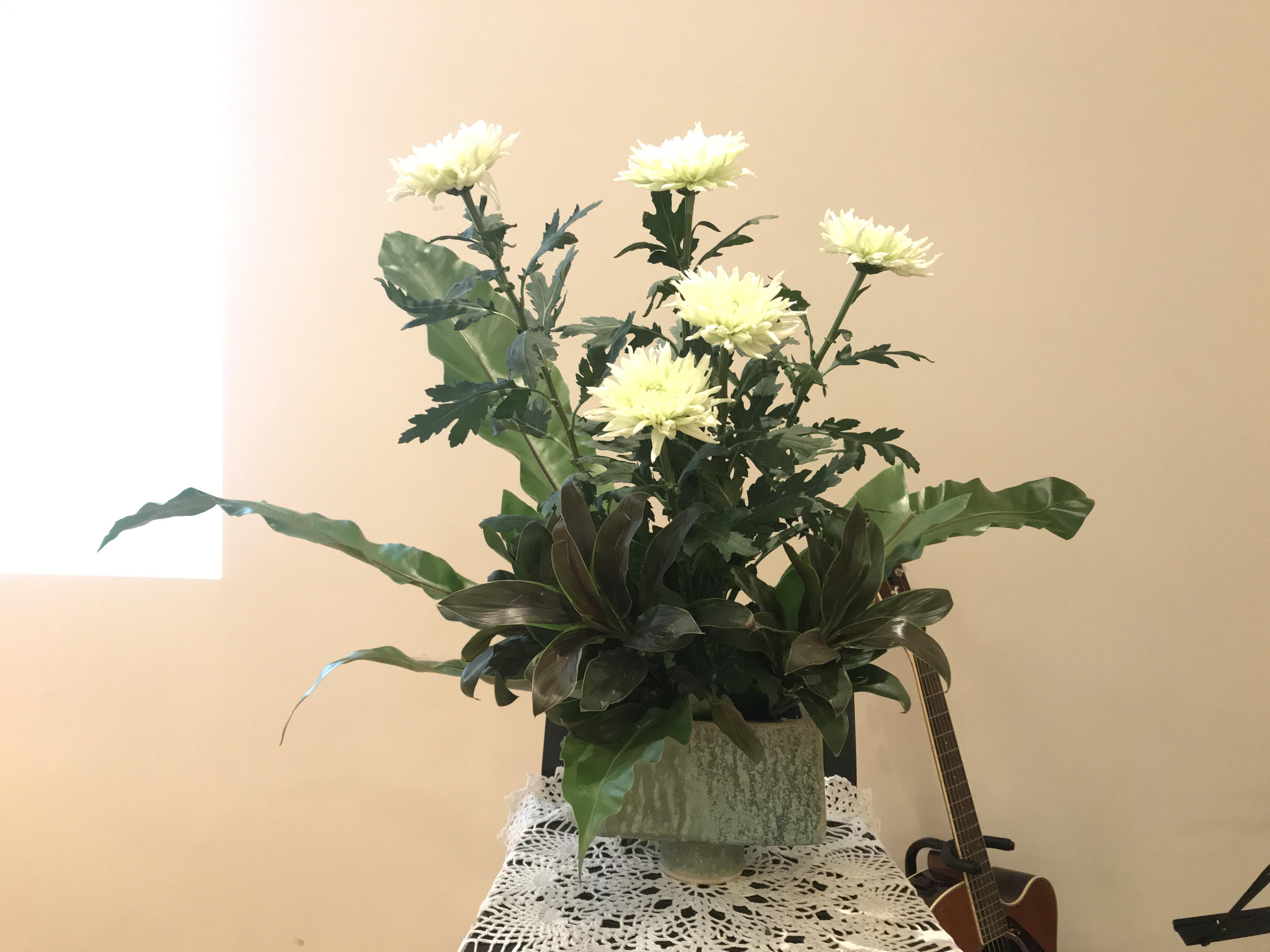 2018/4/29、聖日礼拝のお花