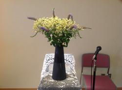 2012/7/22、聖日礼拝のお花