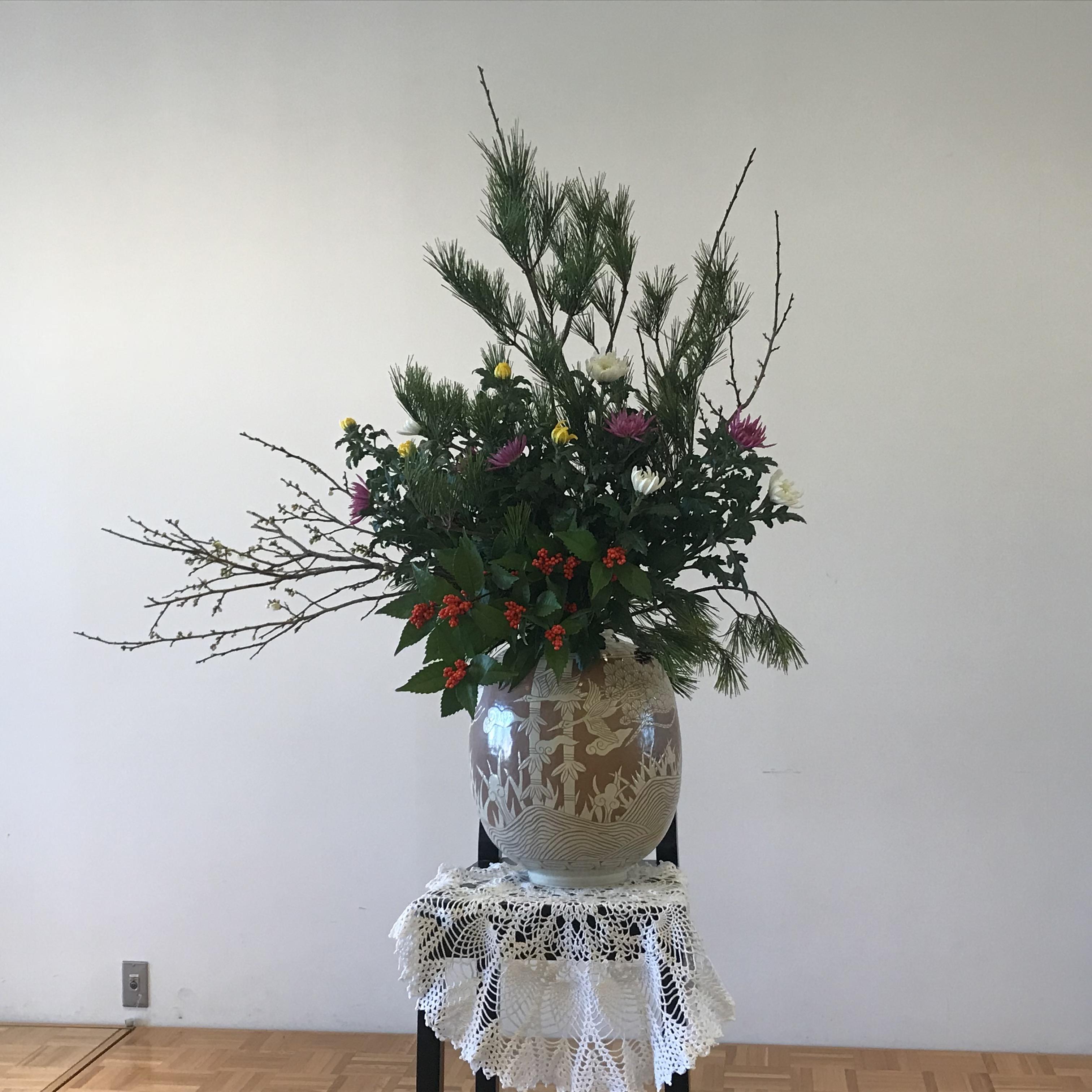 2018年元旦、元旦礼拝のお花