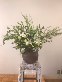 2019.8.25.前日の葬儀の花を使用