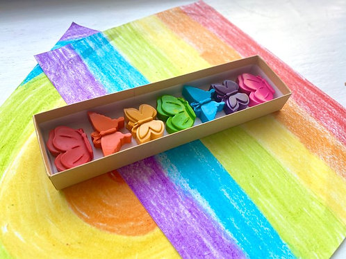 Butterfly Crayon Gift Box by KagesKrayons