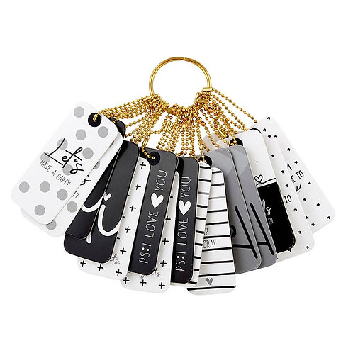 Black and White Gift Tag Book
