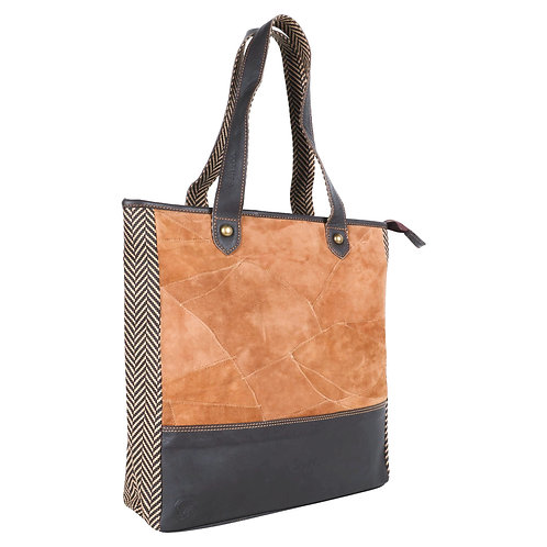 Upcycled Milano Tote by Vaan and Company