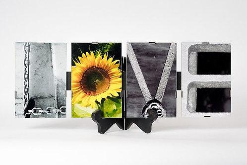 4 Letter LOVE by ABC Alphabet Photo