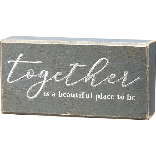 Together Block Sign