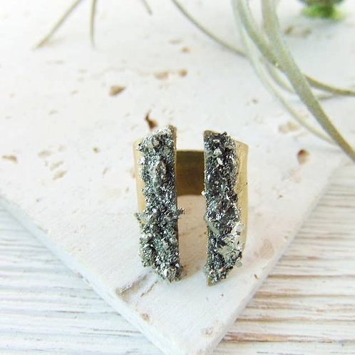 Pyrite Mineral Ring by Dynamo