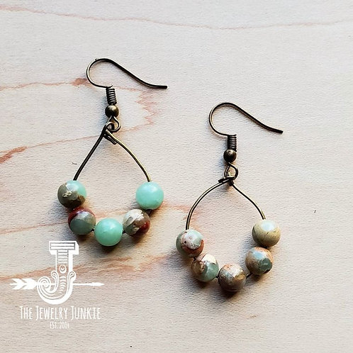 Aqua Terra Small Hoop Earring by The Jewelry Junkie