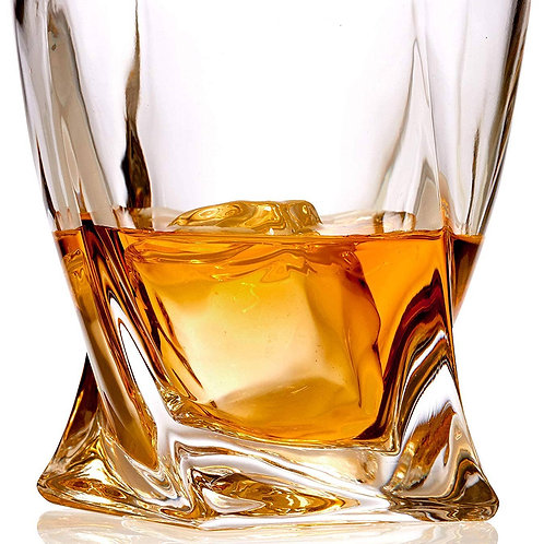Whiskey Glass Lead Free Crystal Old Fashioned
