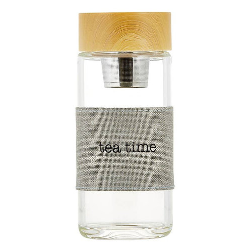 """Tea Time"" Water Bottle Infuser by Sips"