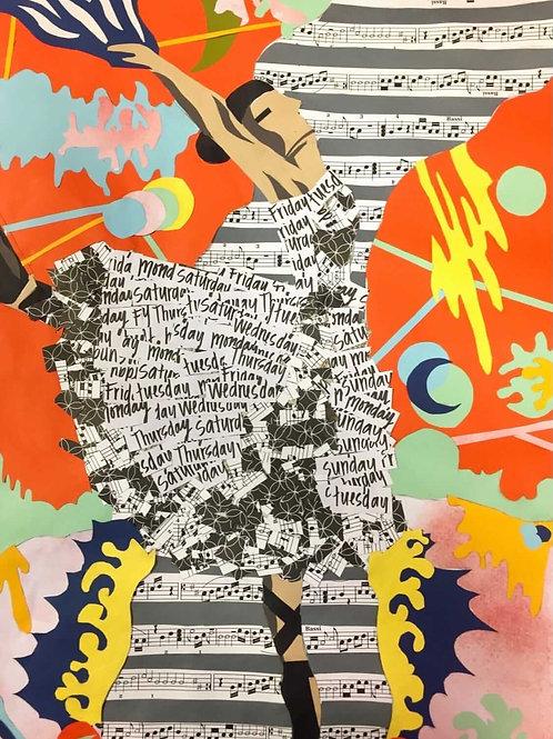 The Flightless Ballerina Print by artist Ellie W.