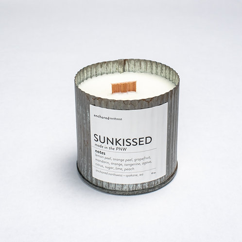 Sunkissed - Rustic Vintage with Wood Wick Candle by Anchored Northwest