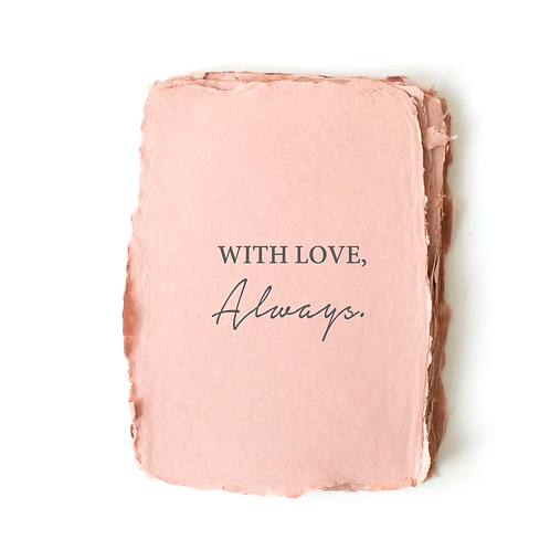 """""""With Love, Always."""" Card by Paper Barista"""