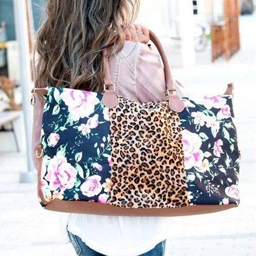 Floral Weekender Cheetah Bag by Prissy Plates Gifts & More