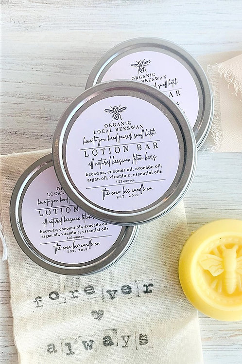 Beeswax Lotion Bar by The Coco Bee Candle Company