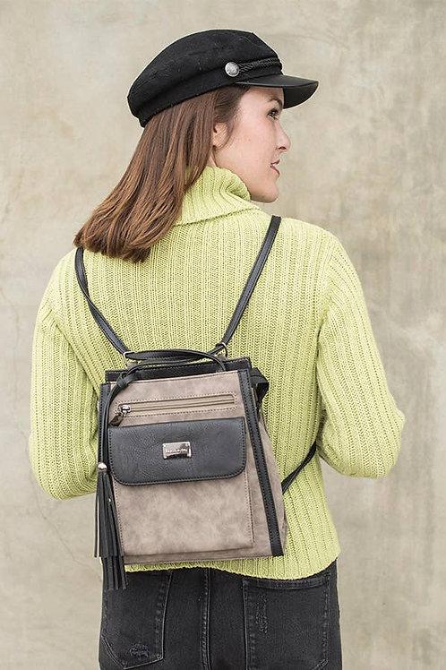 """Gina"" interchangeable Shoulder Bag/Backpack by Liz Soto Handbags"