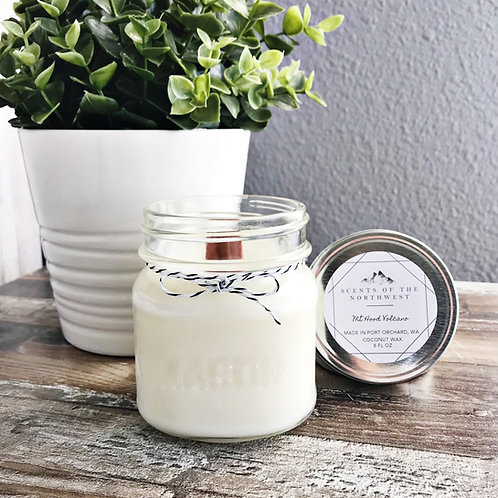"""""""Mt Hood Volcano"""" Coconut Wax Candle by Scents of the Northwest"""