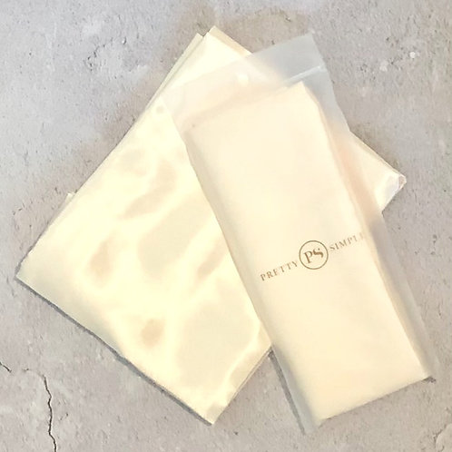Satin Beauty Pillow Case -Cream