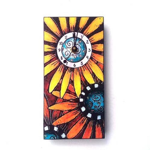 Handpainted Sunflower Clock by MY Art