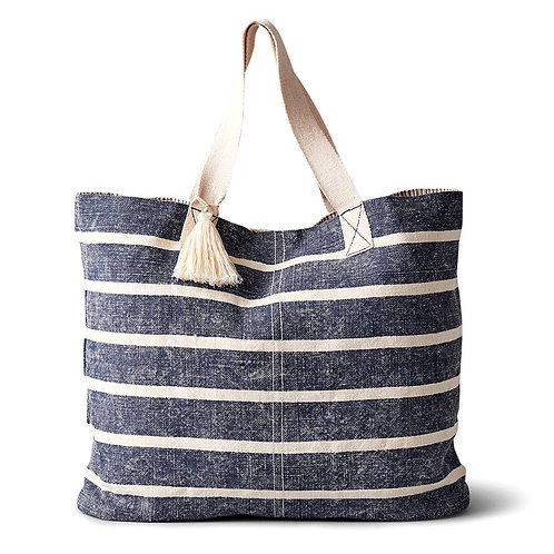 Linen Washed Striped Tote by Boon Supply