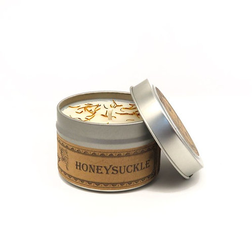 Honeysuckle Botanical Travel Tin Candle by Wax Apothecary