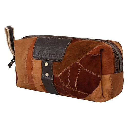 Upcycled Genuine Leather Tommy Dopp Kit by Vaan & Company