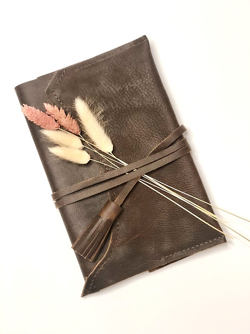 Handmade Leather Journal with Insert by Repurposed on Purpose