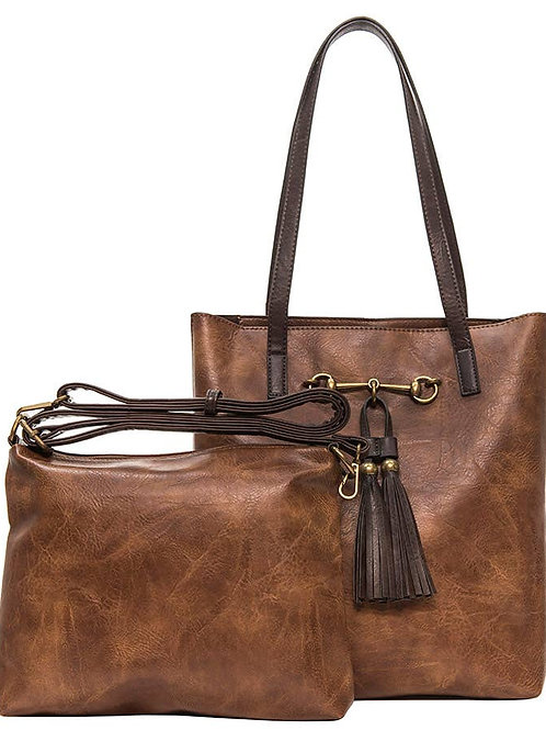 """""""Jane"""" two in one tote by Liz Soto Handbags"""
