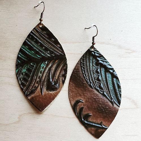 Leather Teardrop Earrings by The Jewelry Junkie