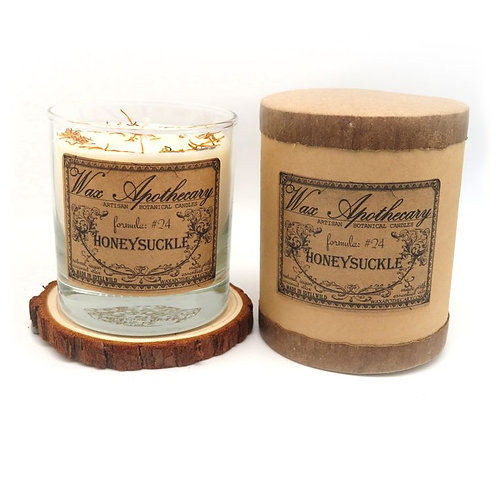 Honeysuckle Botanical Scotch Glass Candle by Wax Apothecary