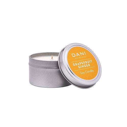 Grapefruit Ginger Soy Candle in Tin by Dani