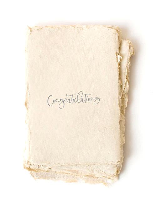 """Congratulations"" Card by Paper Barista"