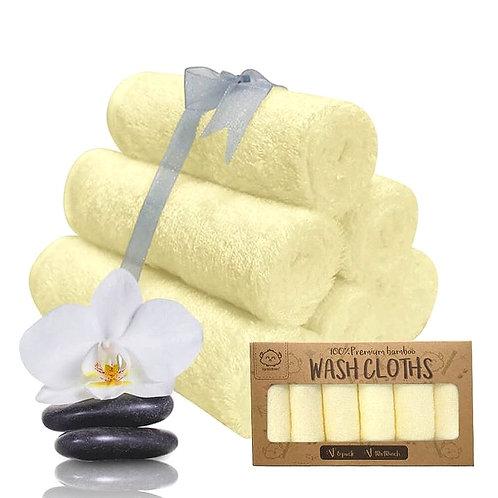 Organic Bamboo Fiber Baby Washcloths - 6 pack -  by KeaBabies