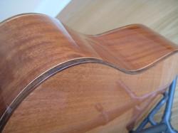 Ribbon stripe sapele back & sides